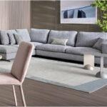 Sofa de Canto Cinza com pes em inox Atenas 5