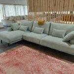 Chaise Lounge Dyor de Alta Gama Modelo Italiano em tecido com espumas ergonomicas e penas Crispalmovel 1