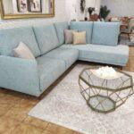 Berta Sofa de Canto de bracos estreitos em tecido macio com almofadas altas Crispalmovel Sofas por Medida 2