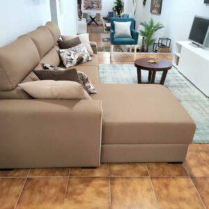 Viena Chaise Lounge Lado esquerdo em microfibra apto para caes e gatos espumas 30HD e pes pretos Crispalmovel 3